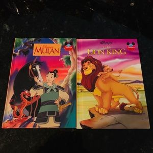 2 Disney Classic Books Mulan and The Lion King